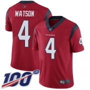 Wholesale Cheap Nike Texans #4 Deshaun Watson Red Alternate Youth Stitched NFL 100th Season Vapor Limited Jersey