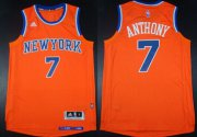 Wholesale Cheap New York Knicks #7 Carmelo Anthony Revolution 30 Swingman 2014 New Orange Jersey