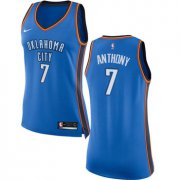 Wholesale Cheap Nike Oklahoma City Thunder #7 Carmelo Anthony Blue Women's NBA Swingman Icon Edition Jersey