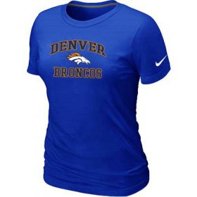 Wholesale Cheap Women\'s Nike Denver Broncos Heart & Soul NFL T-Shirt Blue