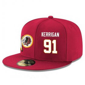 Wholesale Cheap Washington Redskins #91 Ryan Kerrigan Snapback Cap NFL Player Red with White Number Stitched Hat