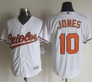 Wholesale Cheap Orioles #10 Adam Jones White New Cool Base Stitched MLB Jersey