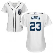 Wholesale Cheap Tigers #23 Kirk Gibson White Home Women's Stitched MLB Jersey