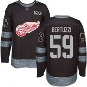 Wholesale Cheap Adidas Red Wings #59 Tyler Bertuzzi Black 1917-2017 100th Anniversary Stitched NHL Jersey