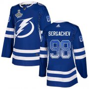 Cheap Adidas Lightning #98 Mikhail Sergachev Blue Home Authentic Drift Fashion 2020 Stanley Cup Champions Stitched NHL Jersey