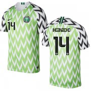 Wholesale Cheap Nigeria #14 Iheanacho Home Soccer Country Jersey