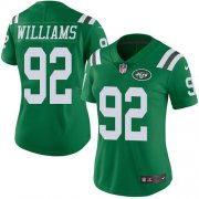 Wholesale Cheap Nike Jets #92 Leonard Williams Green Women's Stitched NFL Limited Rush Jersey