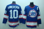 Wholesale Cheap Jets #10 Dale Hawerchuk Stitched Blue CCM Throwback NHL Jersey