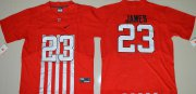 Wholesale Cheap Men's Ohio State Buckeyes #23 Lebron James Red Elite Stitched College Football 2016 Nike NCAA Jersey