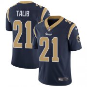 Wholesale Cheap Nike Rams #21 Aqib Talib Navy Blue Team Color Youth Stitched NFL Vapor Untouchable Limited Jersey