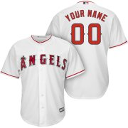 Wholesale Cheap Los Angeles Angels Majestic Cool Base Custom Jersey White