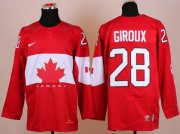 Wholesale Cheap Olympic 2014 CA. #28 Claude Giroux Red Stitched NHL Jersey