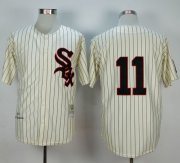 Wholesale Cheap Mitchell And Ness 1959 White Sox #11 Luis Aparicio Cream Stitched MLB Jersey