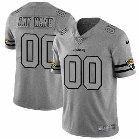 Wholesale Cheap Jacksonville Jaguars Custom Men\'s Nike Gray Gridiron II Vapor Untouchable Limited NFL Jersey