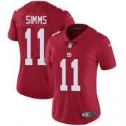 Wholesale Cheap Nike Giants #11 Phil Simms Red Alternate Women's Stitched NFL Vapor Untouchable Limited Jersey