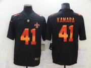 Wholesale Cheap Men's New Orleans Saints #41 Alvin Kamara Black Red Orange Stripe Vapor Limited Nike NFL Jersey
