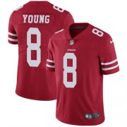 Wholesale Cheap Nike 49ers #8 Steve Young Red Team Color Men's Stitched NFL Vapor Untouchable Limited Jersey