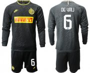 Wholesale Cheap Inter Milan #6 De Vrij Third Long Sleeves Soccer Club Jersey