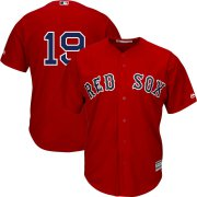 Wholesale Cheap Boston Red Sox #19 Jackie Bradley Jr. Majestic Alternate Official Replica Cool Base Player Jersey Scarlet