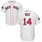 Wholesale Cheap Red Sox #14 Jim Rice White Cool Base 2018 World Series Champions Stitched Youth MLB Jersey