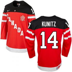 Wholesale Cheap Olympic CA. #14 Chris Kunitz Red 100th Anniversary Stitched NHL Jersey