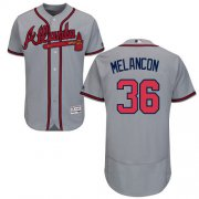 Wholesale Cheap Braves #36 Mark Melancon Grey Flexbase Authentic Collection Stitched MLB Jersey