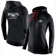 Wholesale Cheap Women's Nike Philadelphia Eagles Full-Zip Performance Hoodie Black
