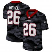 Cheap New England Patriots #26 Sony Michel Men's Nike 2020 Black CAMO Vapor Untouchable Limited Stitched NFL Jersey