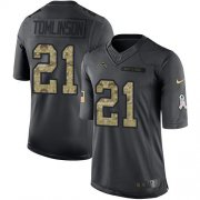 Wholesale Cheap Nike Chargers #21 LaDainian Tomlinson Black Men's Stitched NFL Limited 2016 Salute to Service Jersey