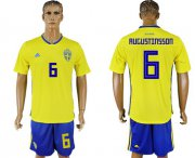 Wholesale Cheap Sweden #6 Augustinsson Home Soccer Country Jersey