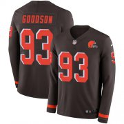 Wholesale Cheap Nike Browns #93 B.J. Goodson Brown Team Color Men's Stitched NFL Limited Therma Long Sleeve Jersey