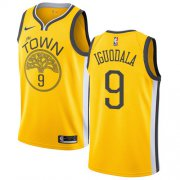 Wholesale Cheap Nike Warriors #9 Andre Iguodala Gold NBA Swingman Earned Edition Jersey