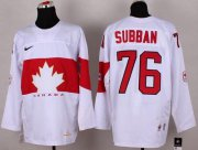Wholesale Cheap Olympic 2014 CA. #76 P.K Subban White Stitched NHL Jersey