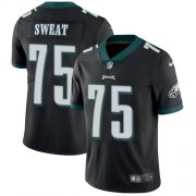 Wholesale Cheap Nike Eagles #75 Josh Sweat Black Alternate Men's Stitched NFL Vapor Untouchable Limited Jersey