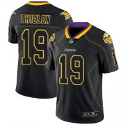 Wholesale Cheap Nike Vikings #19 Adam Thielen Lights Out Black Men's Stitched NFL Limited Rush Jersey