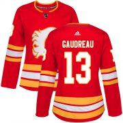 Wholesale Cheap Adidas Flames #13 Johnny Gaudreau Red Alternate Authentic Women's Stitched NHL Jersey