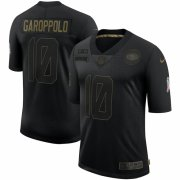 Cheap San Francisco 49ers #10 Jimmy Garoppolo Nike 2020 Salute To Service Limited Jersey Black