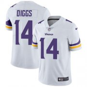 Wholesale Cheap Nike Vikings #14 Stefon Diggs White Men's Stitched NFL Vapor Untouchable Limited Jersey