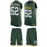 Wholesale Cheap Nike Packers #52 Clay Matthews Green Team Color Men's Stitched NFL Limited Tank Top Suit Jersey