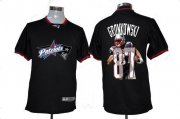 Wholesale Cheap Nike Patriots #87 Rob Gronkowski Black Men's NFL Game All Star Fashion Jersey
