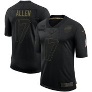 Wholesale Cheap Nike Bills 17 Josh Allen Black 2020 Salute To Service Limited Jersey