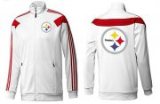 Wholesale Cheap NFL Pittsburgh Steelers Team Logo Jacket White_2