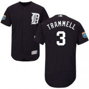 Wholesale Cheap Tigers #3 Alan Trammell Navy Blue Flexbase Authentic Collection Stitched MLB Jersey