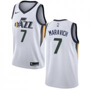Wholesale Cheap Men's NBA Utah Jazz #7 Pete Maravich Swingman White Association Edition Nike Jersey
