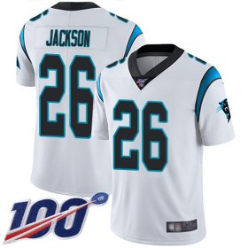 Wholesale Cheap Nike Panthers #26 Donte Jackson White Men\'s Stitched NFL 100th Season Vapor Limited Jersey