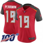Wholesale Cheap Nike Buccaneers #19 Breshad Perriman Red Team Color Women's Stitched NFL 100th Season Vapor Limited Jersey