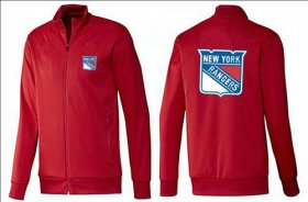 Wholesale Cheap NHL New York Rangers Zip Jackets Red