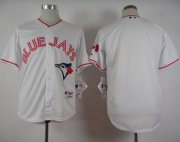 Wholesale Cheap Blue Jays Blank White 2015 Canada Day Stitched MLB Jersey