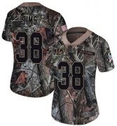 Wholesale Cheap Nike Bengals #38 LeShaun Sims Camo Women's Stitched NFL Limited Rush Realtree Jersey