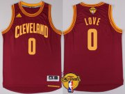 Wholesale Cheap Men's Cleveland Cavaliers #0 Kevin Love 2017 The NBA Finals Patch Red Jersey